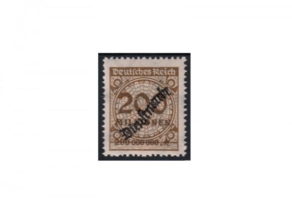 Deutsches Reich Dienstmarken 1923 Michel Nr. 83 b postfrisch mit Kurzbefund