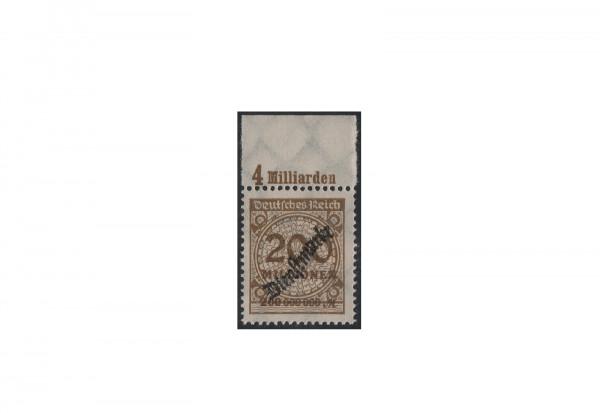 Briefmarke Deutsches Reich Dienstmarke Überdruck 1923 Michel-Nr. 83 b P OR postfrisch Fotoattest