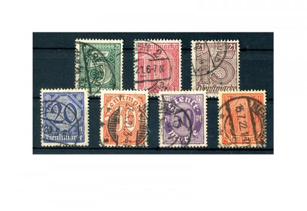 Deutsches Reich Mi. Nr. D 16/22 gestempelt