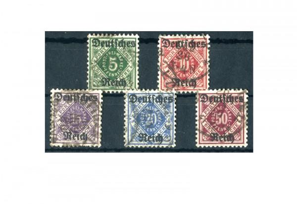 Deutsches Reich Mi. Nr. D 52/56 1920 gestempelt