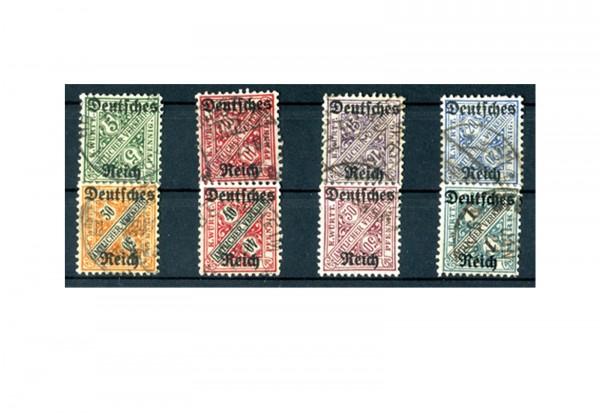 Deutsches Reich Mi. Nr. D 57/64 1920 gestempelt