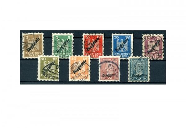 Deutsches Reich Mi. Nr. D 105/113 gestempelt Neuer Reichsadler und Heinrich von Stephan