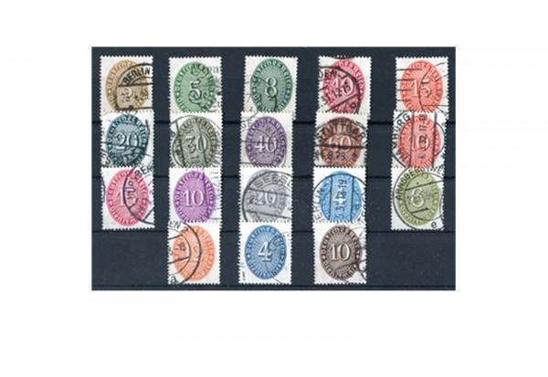Deutsches Reich Dienstmarken - Strohhutmuster 1927-1933 Mi. Nr. 114/31 gestempelt