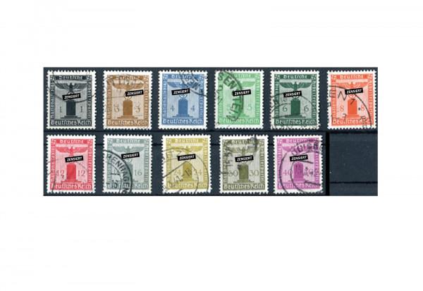 Deutsches Reich Mi. Nr. D 144/154 1938 gestempelt