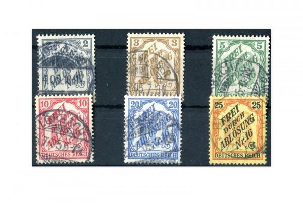 Deutsches Reich Dienstmarken 9-15 gestempelt