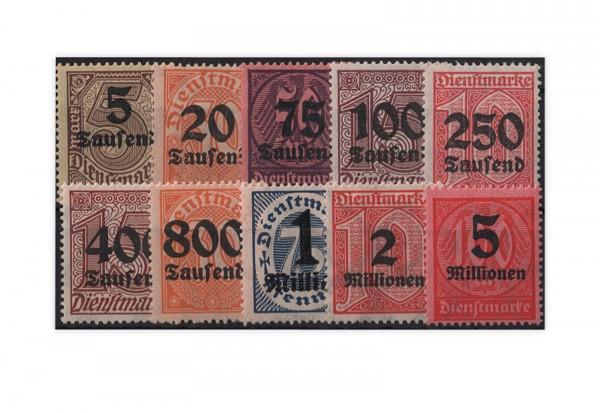 Deutsches Reich Mi. Nr. D 89/98 gestempelt