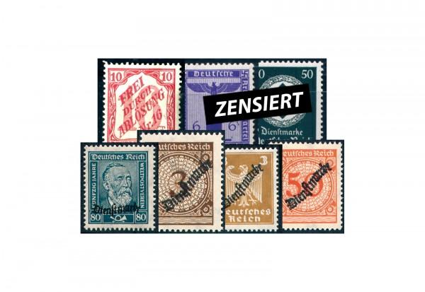 Deutsches Reich 50 verschiedene Dienstmarken 1903-1944 postfrisch/ mit Falz/ gestempelt