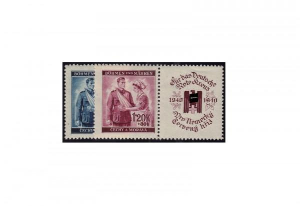 Böhmen und Mähren Rotes Kreuz Michel Nr. 53 bis 54 Zf postfrisch
