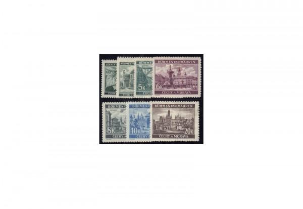 Biefmarken Böhmen und Mähren Michel-Nr. 55 - 61 postfrisch