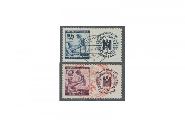 Briefmarken Böhmen und Mähren Michel Nr. 62 - 63 Zf gestempelt