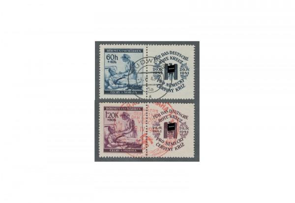 Briefmarken Böhmen und Mähren Rotes Kreuz Michel-Nr. 62/63 Zf postfrisch