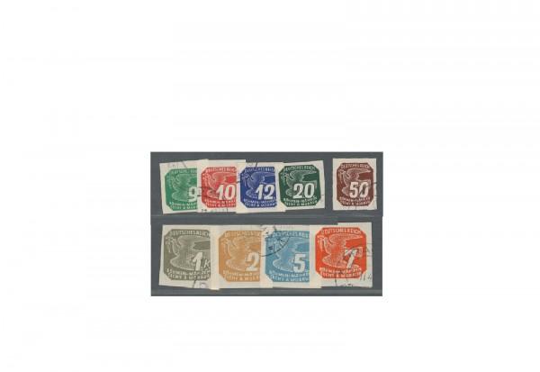 Böhmen und Mähren Zeitungsmarken Michel Nr. 117 bis 125 gestempelt