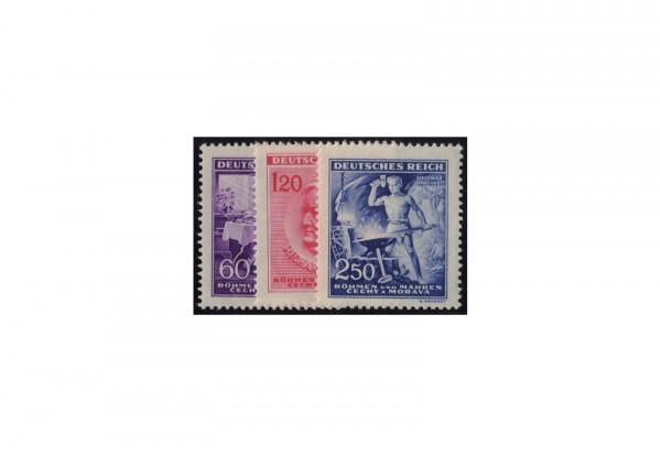 Briefmarken Besatzung Böhmen und Mähren Geburtstag R. Wagner 1943 Michel-Nr. 128-130 postfrisch