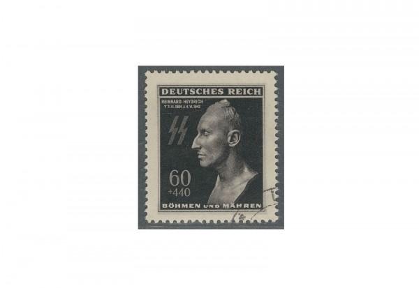 Briefmarke Böhmen und Mähren Todestag R. Heydrich Michel-Nr. 131 gestempelt
