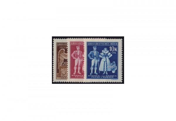 Böhmen und Mähren Errichtung Protektorat Michel Nr. 133 bis 135 postfrisch