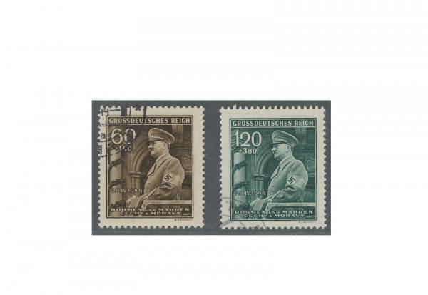 Böhmen und Mähren Geburtstag Adolf Hitler Michel Nr. 136 bis 137 gestempelt