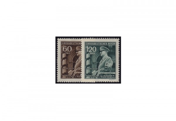 Briefmarken Böhmen und Mähren Geburtstag Adolf Hitler Michel-Nr. 136 - 137 postfrisch