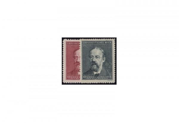Böhmen und Mähren Todestag Smetana Michel Nr. 138 bis 139 postfrisch