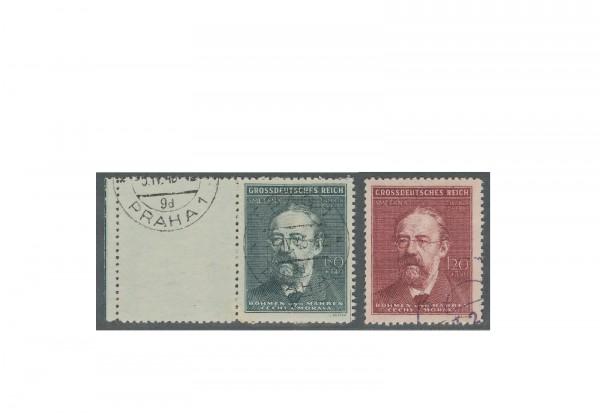 Briefmarken Böhmen und Mähren Todestag Smetana Michel-Nr. 138 bis 139 gestempelt