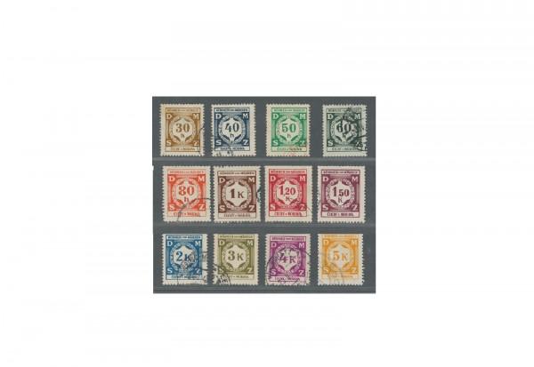 Briefmarken Böhmen und Mähren Dienstmarken Ziffern Michel-Nr. D 1 - D 12 gestempelt