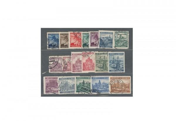 Briefmarken Böhmen und Mähren Michel Nr. 20 - 37 gestempelt
