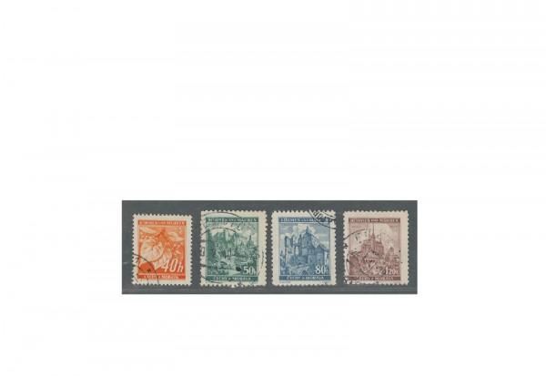 Briefmarken Böhmen und Mähren Michel-Nr. 38 - 41 gestempelt