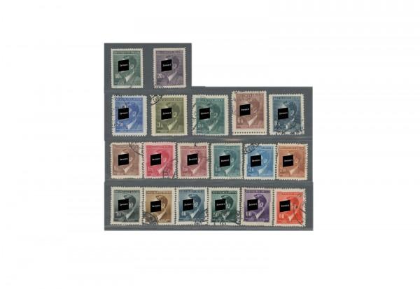 Briefmarken Böhmen und Mähren Freimarken Hitler Michel-Nr. 89 - 110 gestempelt