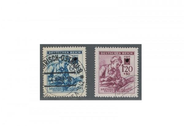 Böhmen und Mähren Rotes Kreuz Michel Nr. 111 bis 112 gestempelt