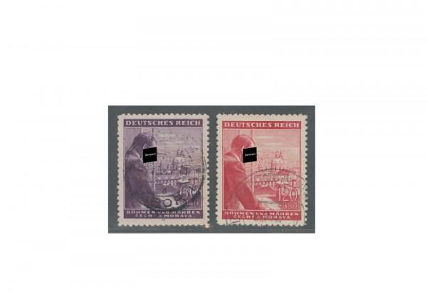 Briefmarken Böhmen und Mähren Geburtstag Adolf Hitler Michel-Nr. 126 bis 127 gestempelt