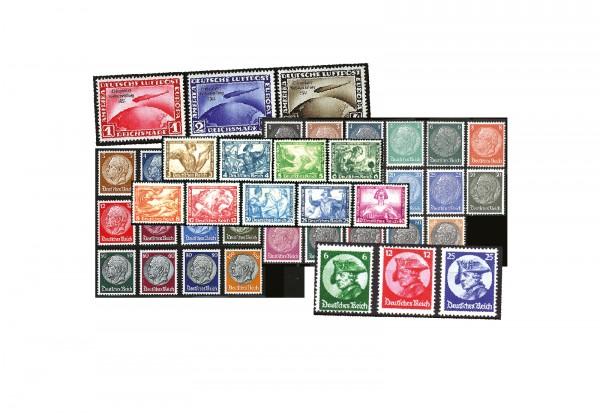Deutsches Reich Mi.Nr. 479/528 Jahrgang 1933 postfrisch 46 Marken ohne Block 2