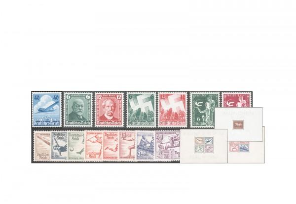 Deutsches Reich Michel-Nr. 603/642 Jahrgang 1936 postfrisch inkl. Block 4, 5 und 6