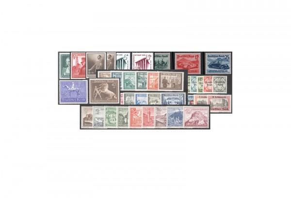 Briefmarken Deutsches Reich Jahrgang 1938 Michel-Nr. 660-685 postfrisch