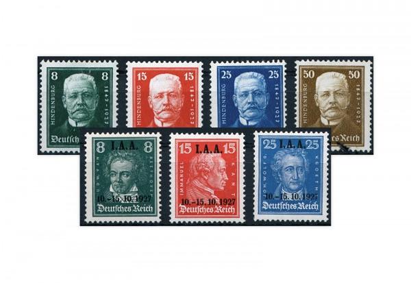 Deutsches Reich Jahrgang 1927 Mi.Nr. 403/406 und 407/409 **