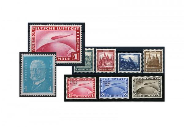 Briefmarken Deutsches Reich Jahrgang 1931 Michel Nr. 454-462 postfrisch