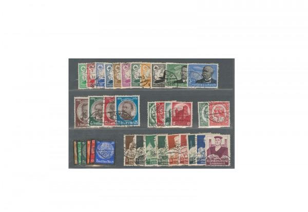 Briefmarken Deutsches Reich Zusammenstellung 1934 Michel-Nr. 529-564 gestempelt