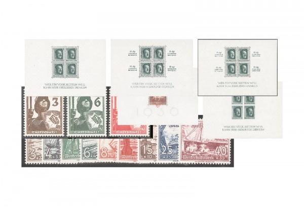 Deutsches Reich Jahrgang 1937 Mi.Nr. 643-659 inkl. Blocks 7/11 gestempelt