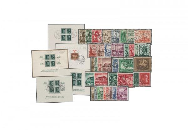 Deutsches Reich Jahrgang 1938 Michel Nr. 660 bis 685 gestempelt 26 Marken