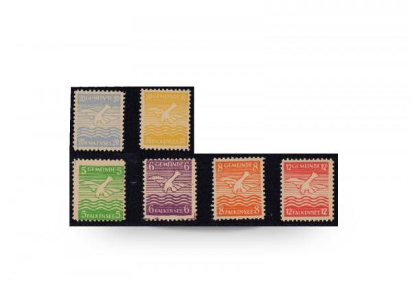 Briefmarken Deutschland Ostwappen Falkensee 1945 Michel-Nr. 1/6 postfrisch geprüft