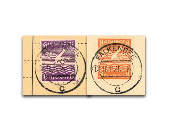 Briefmarken Falkensee Lokalausgabe 1945 Michel-Nr. 1-4 gestempelt geprüft