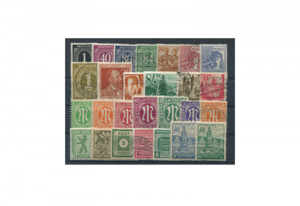 Briefmarken Deutschland 500 Marken ab 1945 postfrisch und gestempelt
