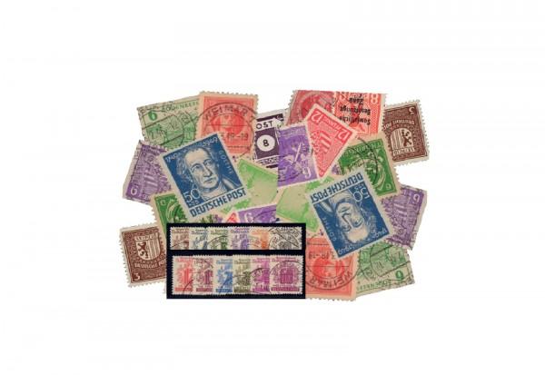 Briefmarken SBZ 50 verschiedene Marken 1945-1949 gestempelt