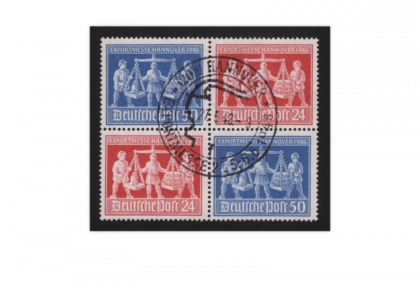 Alliierte Besetzung Exportmesse Hannover 1948 Mi.Nr. 969/970 VZd 1 gestempelt