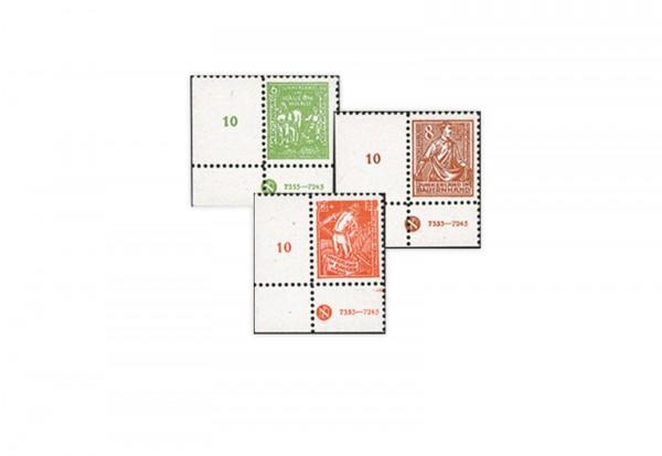 Briefmarken SBZ 1945 Michel Nr. 23/25 postfrisch DZ