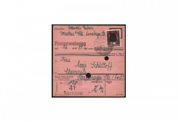 SBZ Sächsische Schwärzung 1945 Michel Nr. A 787 EF