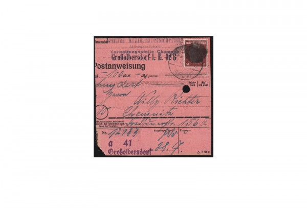 SBZ Sächsische Schwärzung 1945 Michel Nr. A 789 EF gestempelt