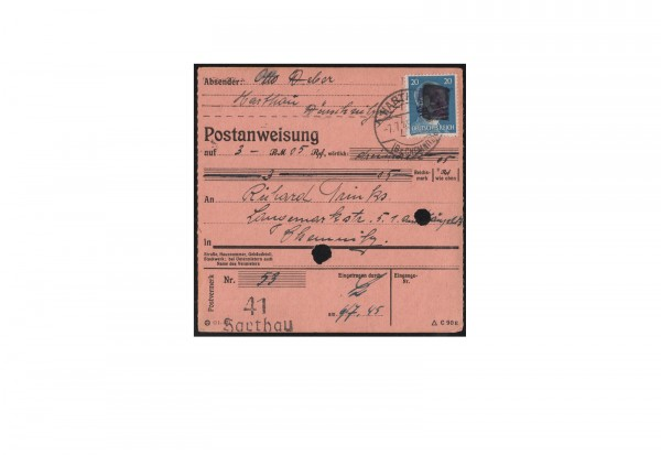 SBZ Sächsische Schwärzung 1945 Michel Nr. A 791 EF gestempelt