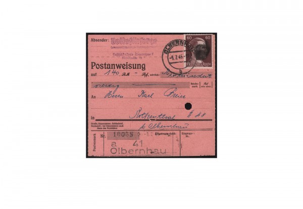 SBZ Sächsische Schwärzung 1945 Michel Nr. A 797 EF gestempelt