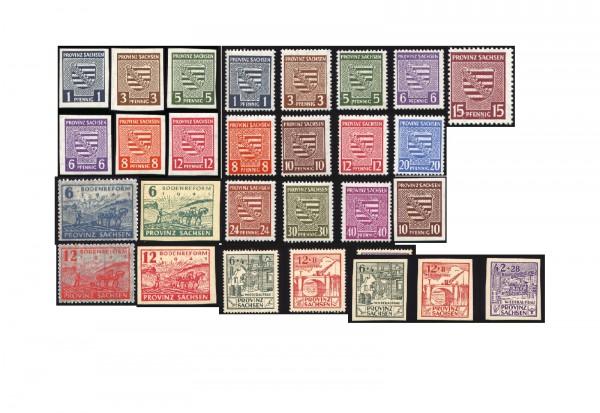 Komplett-Kollektion Provinz Sachsen postfrisch Mi.Nr. 66/91 inkl. Mi.Nr. 80X postfrisch