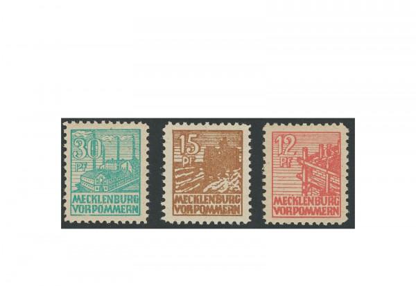 Briefmarken SBZ Abschied 1946 Michel-Nr. 36/37 + 39z postfrisch