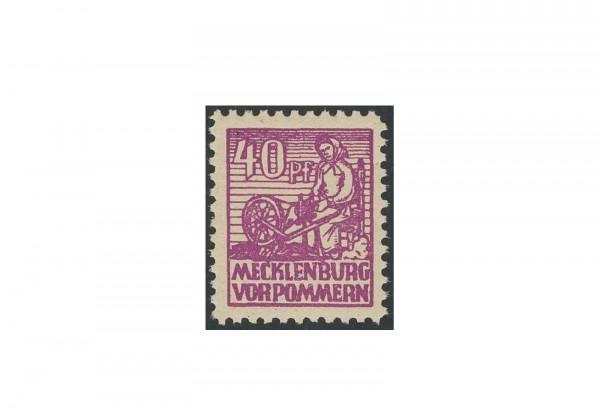 Briefmarke SBZ Abschied 1946 Michel-Nr. 40yb postfrisch geprüft